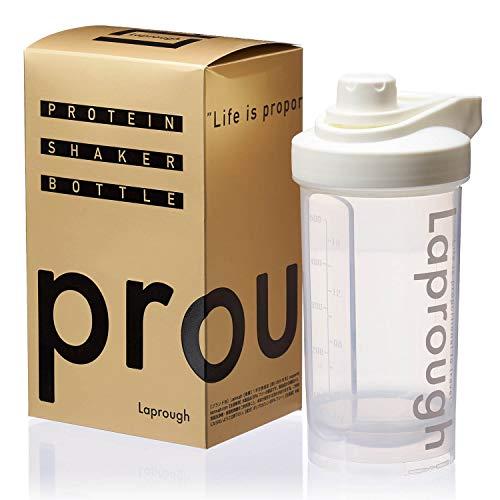 Laprough ラプロフ プロテイン シェイカー BPAフリーボトル 500ml 12ヶ月保証 SHK (ホワイト)