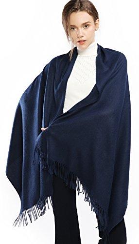 RIIQIICHY Donna Sciarpa Scialle Pashmina Invernale Elegante Lungo Morbida Calda Stole Avvolgere Blu Scuro