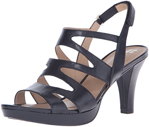 Naturalizer Women's Pressley Platform Dress Sandal, Black, 8 M US