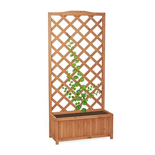 Relaxdays -   Rankkasten Holz,