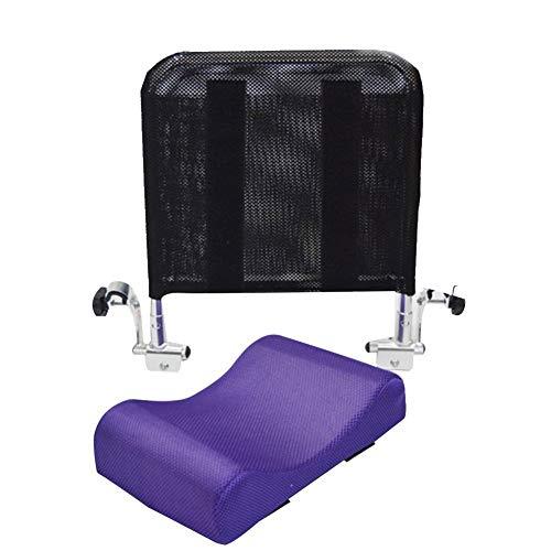 Juanya Verstellbares Rollstuhl-Kopfstützen-Kissen mit Rückengriff, Nacken- und Rückenlehnenunterstützung für 40,6 - 50,8 cm