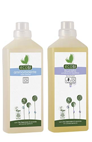 Ecosi Laundry Liquid Detergent and Fabric Conditioner Eco Organic Vegan 1Litre