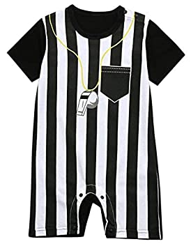 FANCYBABY Baby Toddler Referee Baseball Romper Shirt Outfit  6 to 9 Months Referee