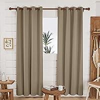 Deconovo Khaki Curtain for Patio Door