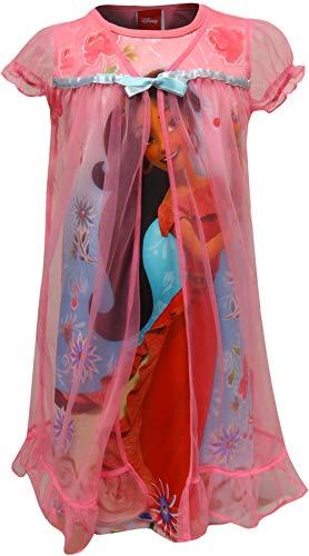 Elena of Avalor Girl's Peignoir Nightgown Set (8, Coral)