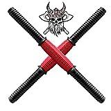 Peerless - Barras de mancuernas universales de 45 cm, mancuernas de gimnasio barbells, entrenamiento de fuerza, entrenamiento de mancuernas, accesorios de fitness (2 unidades)