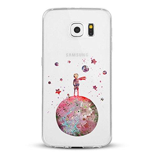 Caler Funda Compatible para Samsung Galaxy S6 / S6 Edge / S6 Edge Plus Case,Suave TPU Gel Silicona Ultra-Delgado Ligera Anti-rasguños Protección Carcas (Pequeño Príncipe Principito, Sumsung Galaxy S6)