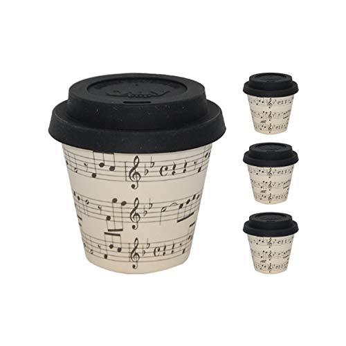 QUY CUP. Opera. Taza de Café Espresso de Bambú -Set de 4....