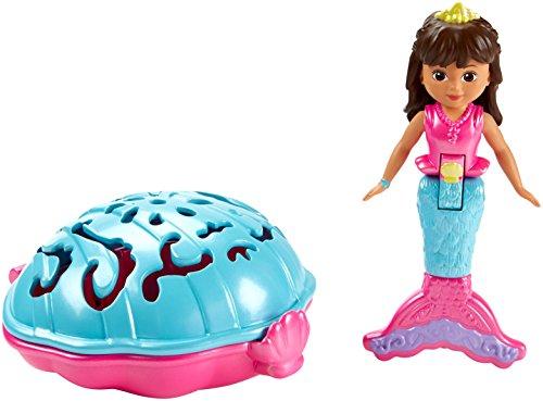 Fisher-Price – Dora and Friends – Sirène Dora – Mini-Figurine 10cm et Coquillage