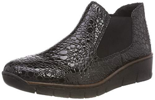 Rieker Damen 53790 Chelsea Boots, Grau (Granit 45), 40 EU