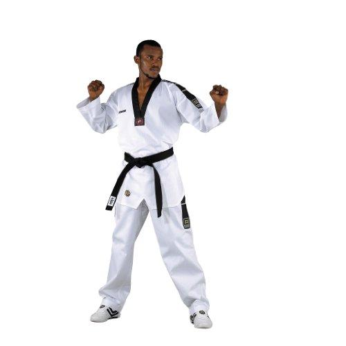 KWON Dobok TKD Anzug Grand Victory - Traje de artes marciales (talla mediana) blanco blanco, talla:170