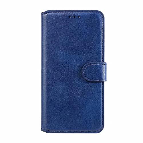 Funda para iPhone 13, a prueba de golpes, con cierre magnético, función atril para portátiles con soporte para tarjetas, color azul