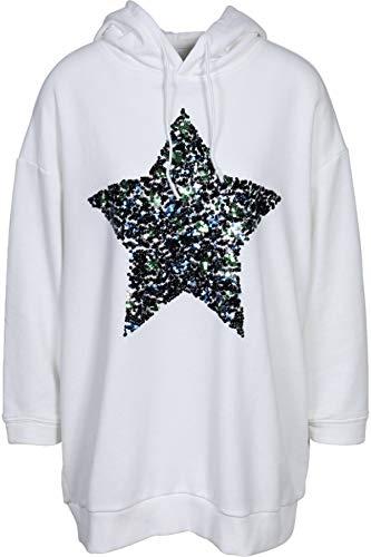 GWYNEDDS Damen Sweatshirt Brittany mit Paillettenstern Weiss S