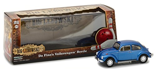 Greenlight Da Fino's Volkswagen Beetle Blue The Big Lebowski Movie (1998) 1/43 Diecast Model Car by
