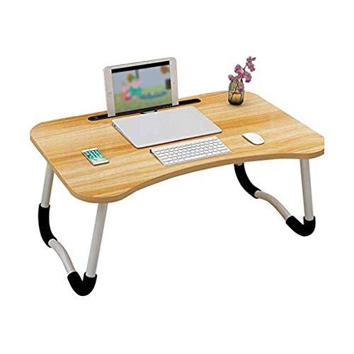 Escritorio Plegable para computadora, Cama, Cuaderno, Mesa pequeña, Escritorio para Cama, Mesa Perezosa, Escritorio para Dormitorio, Escritorio para Dormitorio (Color: A)