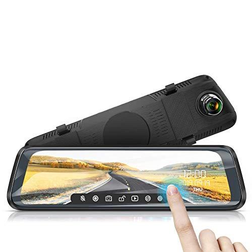 WiMiUS Dash Cam Doppia Telecamera per Auto Screen 10 Pollici Full HD 1080P Telecamera per Auto anteriore e posteriore, Telecamera per Retromarcia per Parcheggio,Grandangolo, Visione Notturna
