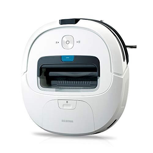 アイリスオーヤマ ロボット掃除機 水拭き 自動充電 落下防止 衝突防止 予約機能 リモコン付き IC-R01-W