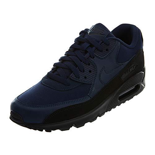 Nike Air Max 90 Essential, Scarpe Running Uomo, Multicolore (Black/Midnight Navy 007), 47 EU