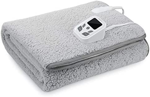 MaxKare Heated Mattress Pad Electric Underblanket Soft Cotton Fabric 10 Heat 9 Timer Auto Off product image
