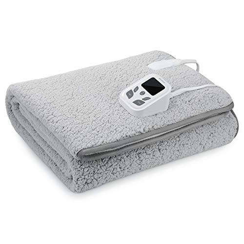 MaxKare Heated Mattress Pad Electric Underblanket Soft Cotton Fabric,10 Heat & 9 Timer Auto Off Settings ETL Certification Overheating Protection Relief Tense Muscle, Machine Washable & Dryer, Twin