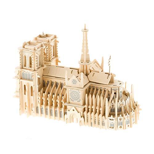 Easy-topbuy Notre Dame De Paris 3D Puzzle en Bois DIY Maquette Maquette À La Mémoire De Notre Dame De Paris