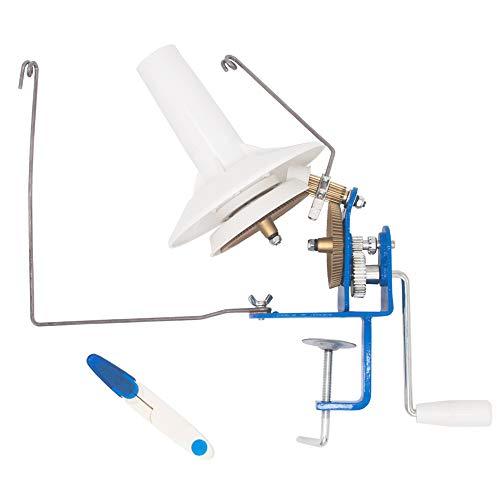 (High Speed) LAMXD Needlecraft Large Jumbo Metal Yarn/Wool/String/Fiber Ball Winder Hand Operated,10-Ounce,with Thread Cutter Scissors