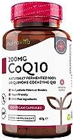 Coenzima Q10 200 mg - 100% Pura Fermentada Naturalmente - 120 Cápsulas Veganas de CoQ10 de Alta Potencia - Suministro...