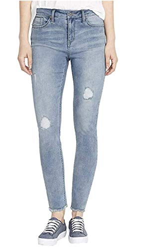 BUFFALO David Bitton Rip & Repair Mid-Rise Skinny Jeans, Light Blue, 8/29