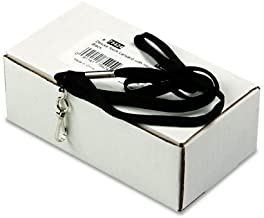 Advantus 36-Inch Deluxe Neck Lanyard for ID Cards/Badges, J-Hook Style, Black, Box of 24 (75424) by Advantus