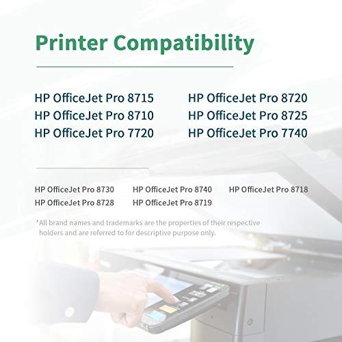 ZIPRINT 5 Multipack Compatible HP 953XL Cartucho para HP OfficeJet 8702 AIO Pro 8210 8211 8218 AIO Pro 8710 8715 8716 8717 8718 8720 8721 8725 8728 8730 8731 8740 AIO 7720 7730WF AIO Impresora