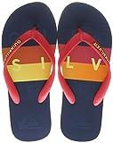 Quiksilver Molokai Word Block Youth, Zapatos de Playa y Piscina para Niños, Multicolor (Black/Red/Blue Xkrb), 38 EU