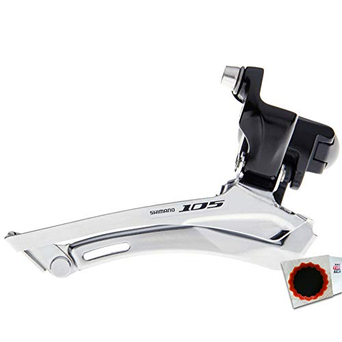 Shimano Umwerfer 105 FD-5700 2x10 Schelle 34,9mm D.Pull 61-66Grad 50-56Z schwarz