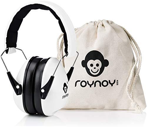roynoy   Gehörschutz Kinder und Baby   ab 2 Jahre   Ohrenschutz Kinder   Ohrenschützer   Lärmschutz Baby   Lärmschutzkopfhörer Kinder (Weiß)
