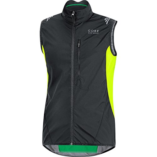 GORE WEAR Herren Weste Element Windstopper Active Shell, Black/Neon Yellow, S