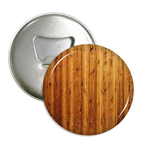 Oranje Houten Vloer Behang Textuur Ronde Flesopener Koelkast Magneet Pins Badge Button Gift 3 stks