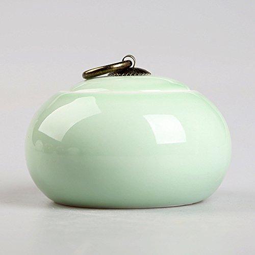 TAMUME Hellgrün Tee Behälter Porzellan Tee Dosen für Losen Tee Lagerung Teebehälter Tee-Kanister (Licht Grün)