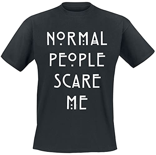 American Horror Story Normal People Homme T-Shirt Manches Courtes Noir 4XL