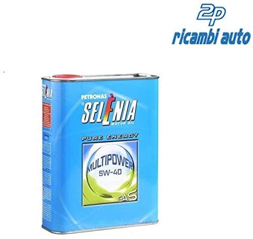 SELENIA MULTIPOWER GAS 5W40 PLASTICA L.1, Confezione da 12 litri