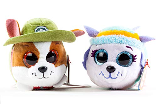 BEANIE BOOS TY Teeny Paw Patrol Bundle with Everest and Tracker - 2 x 4 inch Pets