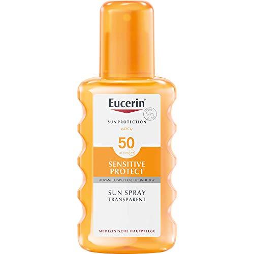 Eucerin Sensitive Protect Sun Spray Transparent LSF 50, 200 ml Lösung
