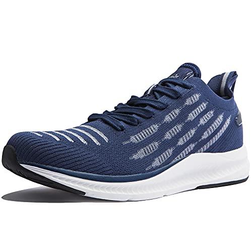 Zapatillas Ligeras Hombre Zapatos Verano Transpirables Zapatillas Minimalistas Running Multifuncional Calzado Deportivo de Exterior Interior Azul Marino 50