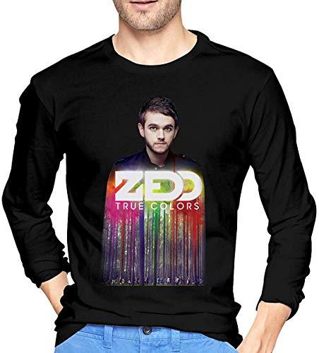 Ovilsm Hemden Langarmshirts Zedd True Colors Music Men's Tops Long Sleeve Tees Black
