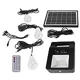 Energía de emergencia, panel solar, 3 bombillas Cargador USB Solar multifunción para áreas de iluminación interior y exterior sin electricidad