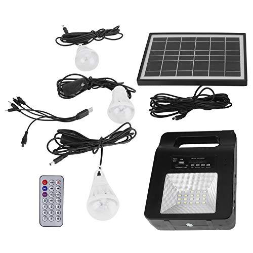 Energía de emergencia, 3 bombillas Energía solar para exteriores, para áreas sin electricidad lIluminación Iluminación interior exterior Carga