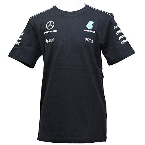 MERCEDES AMG PETRONAS Herren MAMGP Team Tee Black 2017, L T-Shirt, Schwarz, L