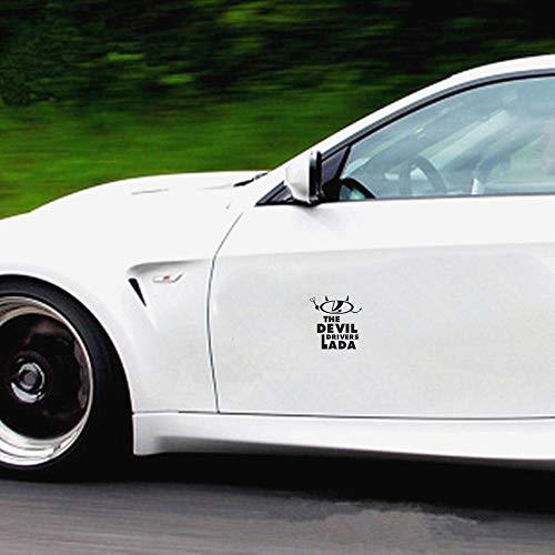 Autoaufkleber Teufel-Fahrer, der eine Gabel-Charakter-Bild-Auto-Aufkleber für Autokörper-Fenster-Tür-Heckscheibe hält