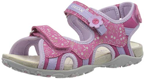 Geox Mädchen JR Roxanne C Peeptoe Sandalen, Pink (Fuchsia/Lilac C8257), 32 EU