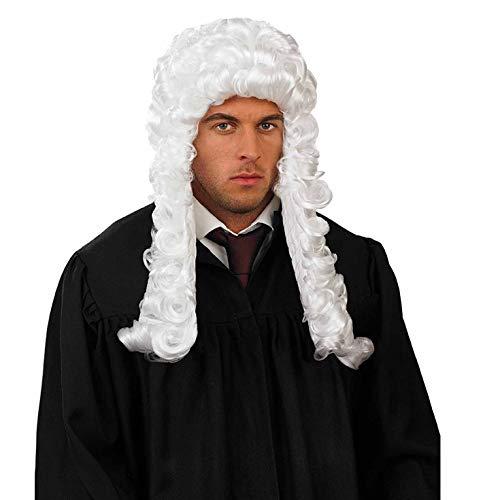 Fun Shack Weiß Richter Perücke für Herren - Einheitsgröße