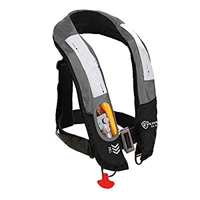 Eyson Inflatable Life Jacket Life Vest Highly Visible Automatic (Grey)