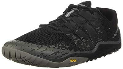Merrell Men's Trail Glove 5 Sneaker, Black, 12.0 M US